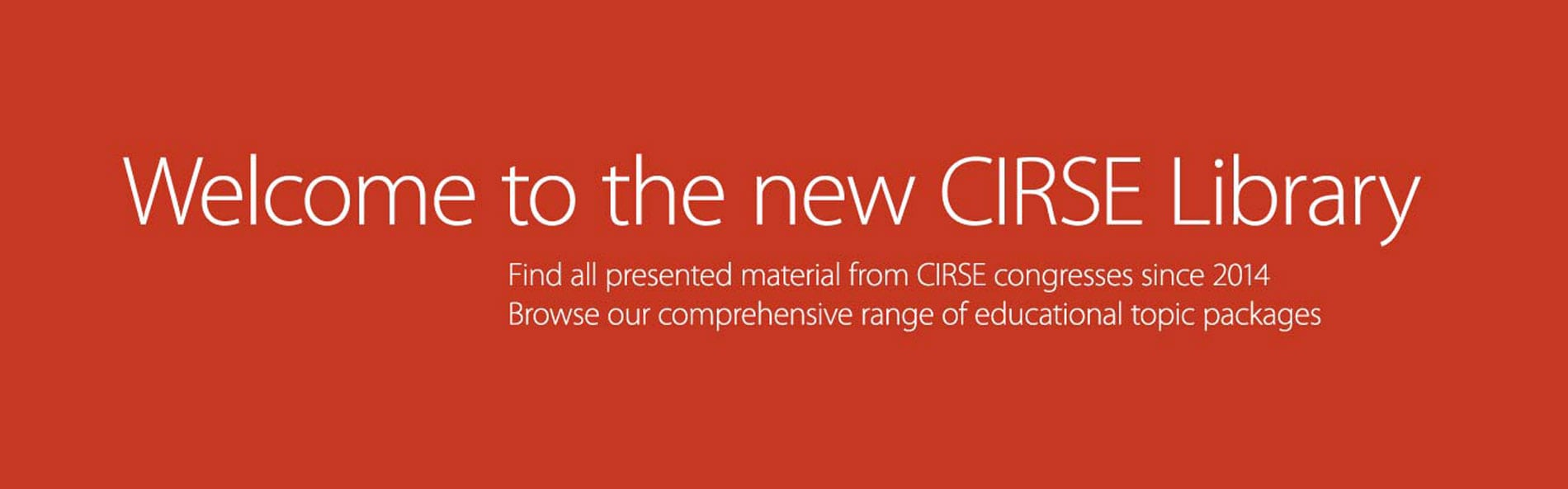 CIRSE Library - All sessions online